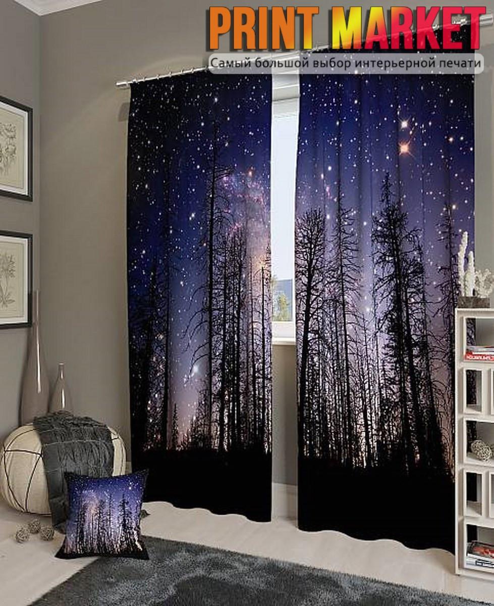 Фотошторы ночной лес
