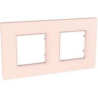 Рамка SCHNEIDER UNICA QUADRO MGU4.704.37 , 2 места, розово-жемчужный