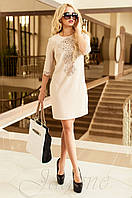Женская бежевая туника Алания_1 Jadone Fashion 50-56 размеры