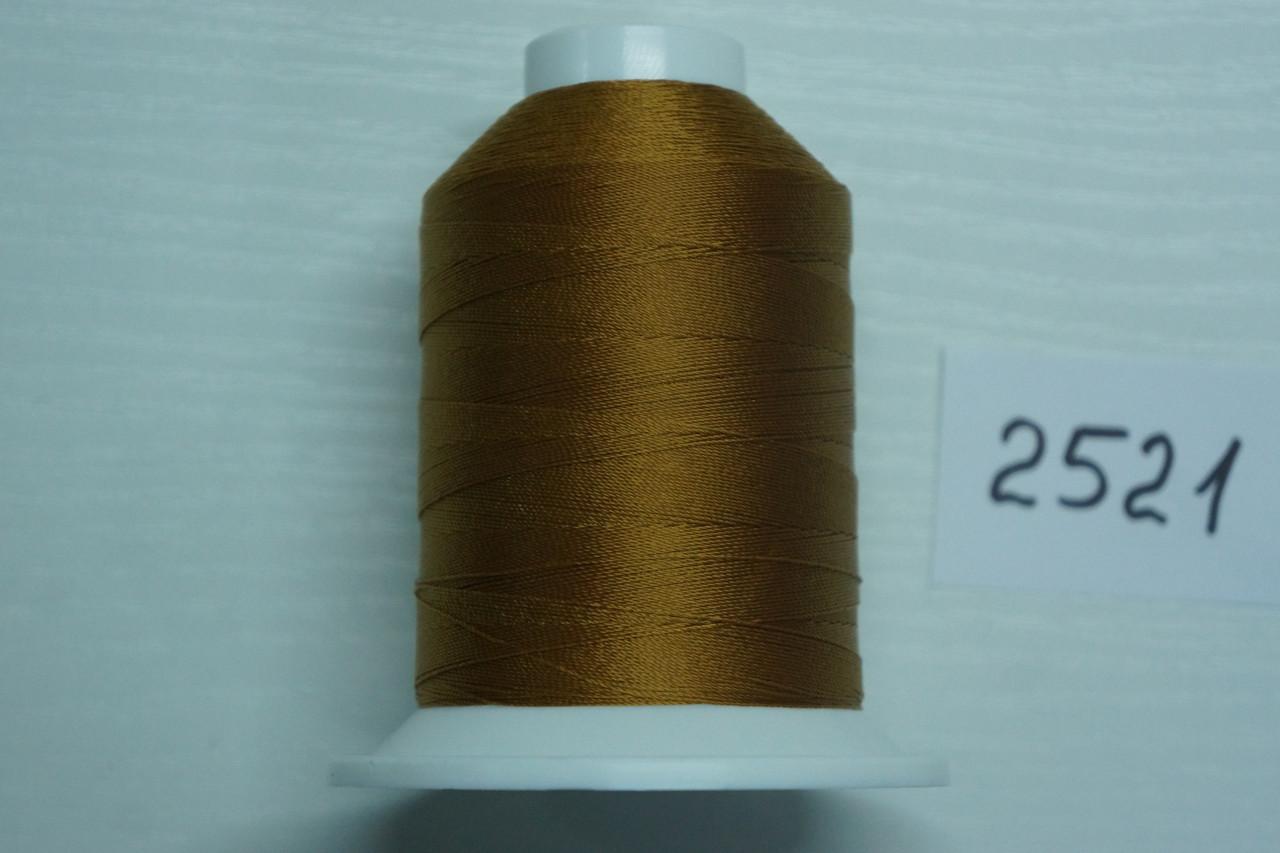 Нить №60 (1000 м.) «Титан» колір 2521 світлокоричневий