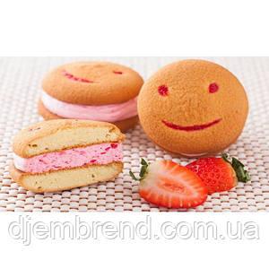 Печенье Хаха-тун (смайлик) с клубникой, 1,7 кг (2 шт в упаковке)