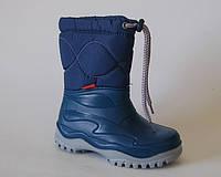 Утепленные резиновые сапожки DEMAR WINDY синие (Размеры: 24-35)