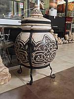 Тандыр №3.5 (шар)(с метал. поддувалом)