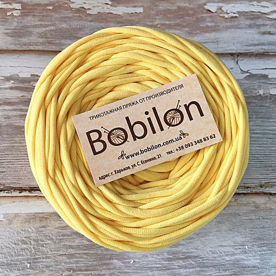 Пряжа лента Бобилон, цвет банановый