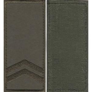 "Погон ""Младший сержант"" на липучке оливковый, фото 2"