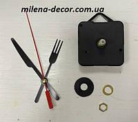 Часовой механизм с подвесом, резьба 15,5мм, шток 22мм (стрелки 3138)