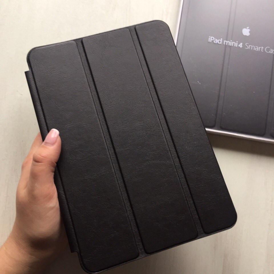 Кожаный черный чехол Smart case для iPad mini 4