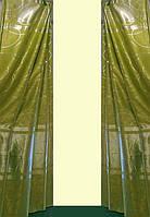 Шторная ткань портьера blackout зеленая