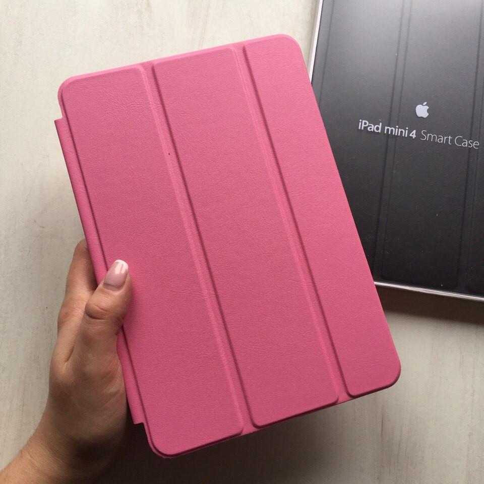 Кожаный розовый чехол Smart case для iPad mini 4