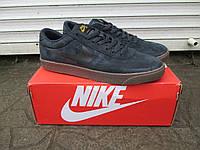 Мужские Кроссовки Nike SB темно серые замша