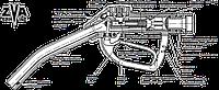 ZVA Slimline - Раздаточный кран-автомат, 80 л/мин