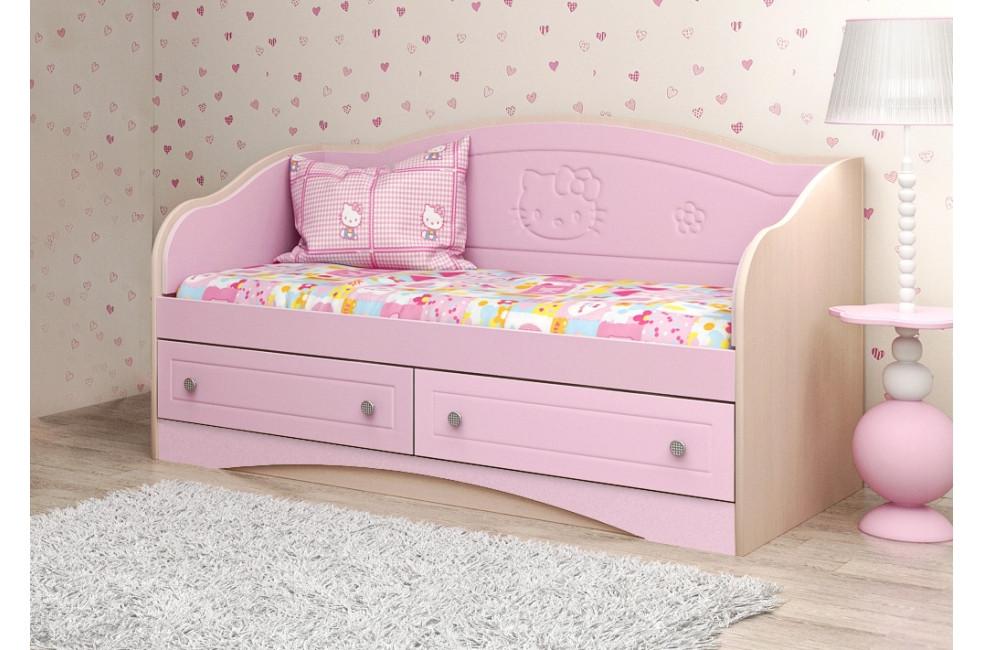 детская кровать диван Kiddy вальтер розовый купить в киеве цены в