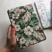 Чехол Smart Case с белыми цветами для iPad mini 1/2/3
