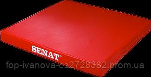 Мат детский гимнастический 1х1, кожзам, красный, 1352-red