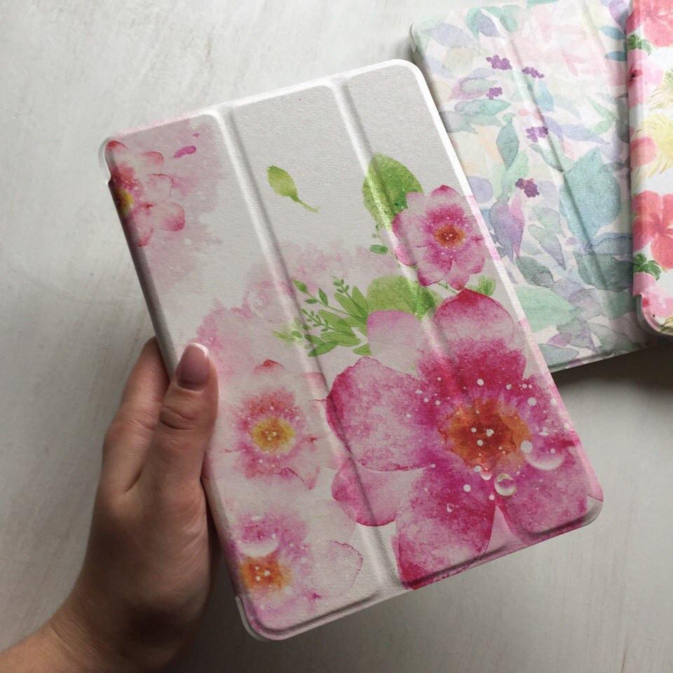 Чехол Smart Case с розовым цветком для iPad mini 4