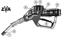 ZVA 200 GR - Автоматический раздаточный кран для газовозврата, 45 л/мин