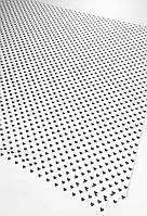 Подарочная бумага (упаковочная) белого цвета с чёрными мелкими сердечками
