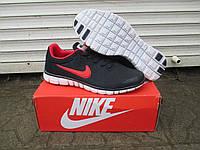 Мужские Кроссовки Nike Free Run 4.0 синие замша