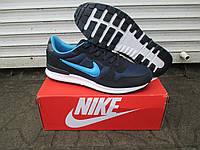 Мужские Кроссовки Nike Zoom синие замша+сетка