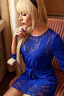 Женская туника Летиция_1 электрик Jadone Fashion 50-56 размеры