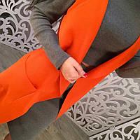 Оранжевый женский кардиган