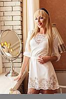 Женская белая туника Летиция_1 Jadone Fashion 50-56 размеры