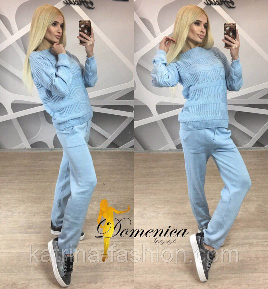 Модный вязаный костюм новые фото