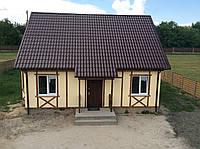 Строительство домов, коттеджей из оштукатуренных сэндвич-панелей