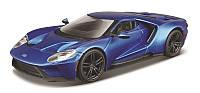 Автомодель Bburago - Ford GT 1:32 голубой, серебристый металлик (18-43043)
