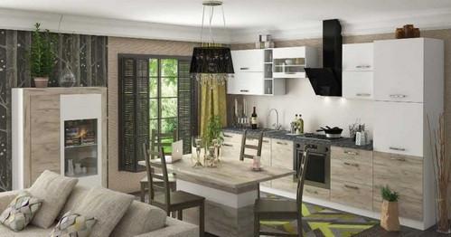комбинация гостиной Пуеро и кухни Шарлотты
