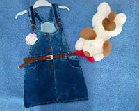Комбинезон юбка для девочки джинс Турция 4-5 лет, доставка по Украине
