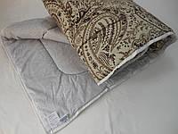 Одеяло стеганное, двуспальное, льнопоновое