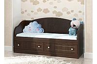 Детский диван Мишка 4 Вальтер, 140х70, орех