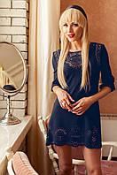 Женская  темно-синяя туника Летиция_1 Jadone Fashion 50-56 размеры