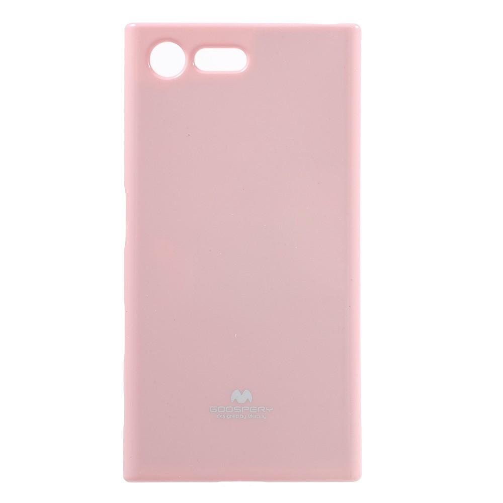 Чехол накладка для Sony Xperia X Compact F5321 силиконовый, MERCURY GOOSPERY, розовый