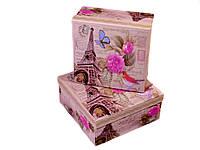 """Коробка подарочная """"Париж"""", квадр.,19х19х8,5см"""