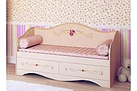Детская кровать диван Прованс Вальтер 90х190 ваниль