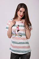 Модная  женская футболка из хлопка