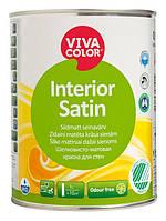 """Vivacolor Interior Satin"" Виваколор интериор сатин Шелковисто-матовая краска для стен 0,9л"