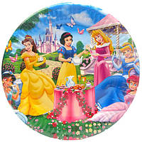 """Тарелки """"Принцессы Диснея""""  . Размер 18 см, в упак. 10шт"""