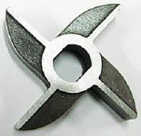 Нож нержавеющий двусторонний мясорубки МИМ-80 без бурта арт. 01.008