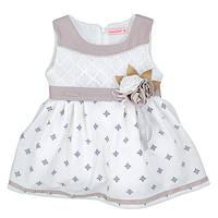 Нарядное детское платье украшенное цветами