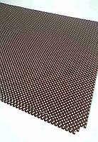 Подарочная бумага (упаковочная) коричневого цвета в белый горошек