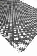 Подарочная бумага (упаковочная) серого цвета в белый горошек
