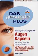 Биологически активная добавка для зрения DAS gesunde PLUS Augen с Vitamin A, B2 и Zink Das Gesunde Plus 30 шт.