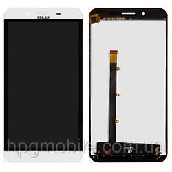 Дисплейный модуль (дисплей + сенсор) для BLU Studio XL D850Q, белый, оригинал