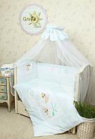 Детский постельный комплект Бусинка GreTa Lux 7 предметов, 3 цвета