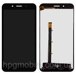 Дисплейный модуль (дисплей + сенсор) для BLU Studio XL D850Q, черный, оригинал