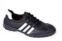 Три в одном мокасини кроссовки туфли мужские исскуственная кожа черные. Со скидкой
