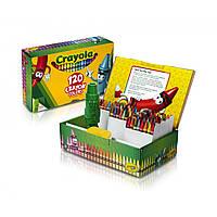 Мелки цветные восковые карандаши, в наборе 120 штук с точилкой, Crayola (Крайола)